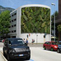 Giardino verticale. Autosilo del Buonconsiglio, Trento